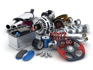 A Picture of Many Auto Parts Done in 3D